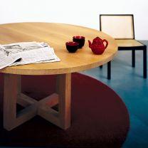 Tisch circolo Schwarznuss TOSSA
